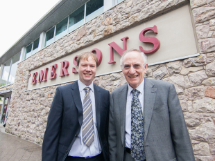 Emersons, which employs 110 people, was first opened by Henry Alexander Emerson in 1889. It was then passed to his son Newton Emerson then on to his son Henry, right, and is now being run by Henry's son Gavin, left.
