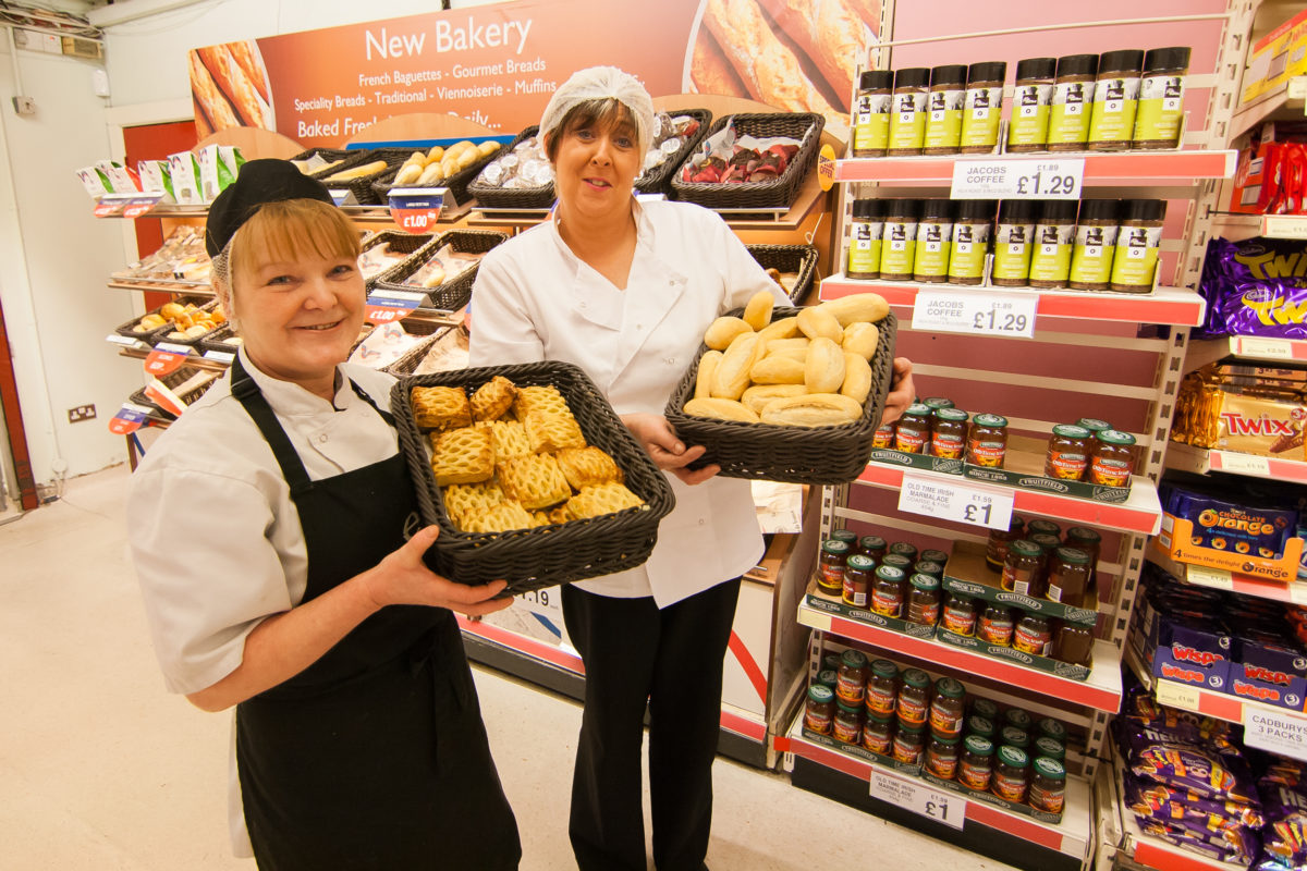 Staff at Emerson's Supermarket in Armagh