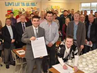 Markethill High School's Putting Pupils First campaign highlights demand for sixth form status. MGMPR