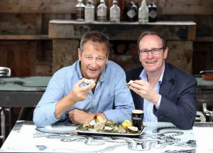 Derek Patterson, Co-owner, The Plough Inn and Philip Orr, Chief Executive, UPU Industries
