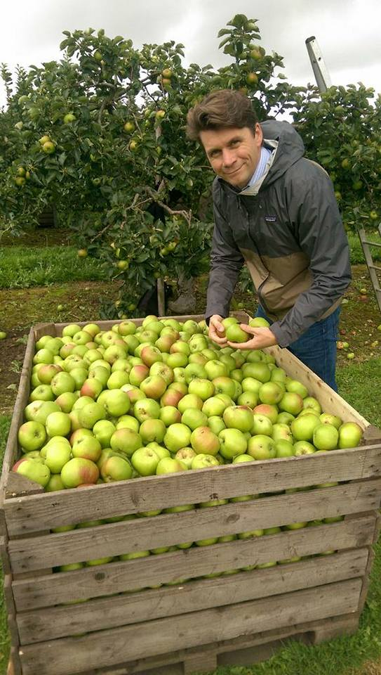 Greg MacNeice, a fifth generation apple grower and cider maker checking the crop of this year's harvest at his orchards at Ardress, County Armagh from where he produces Irish Craft Cider.
