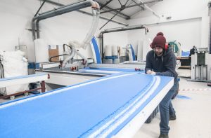 The Skunkworks Surf Co factory in Coleraine Northern Ireland where two surfing brothers are revolutionising the surfing industry
