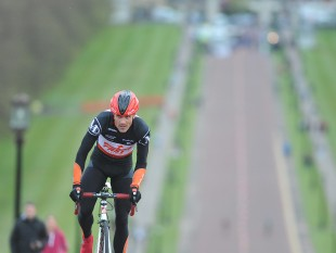 PR agency MGMPR - 1 May 2015; Colin Robinson, Stamullen M Donnelly/Fast Shipping, in action during the time trial stage. 150 elite cyclists from Australia, Holland, Belgium, France, England, Scotland, Northern Ireland and the Republic of Ireland compete in the Time Trial stage of the AmberGreen Energy Tour of Ulster in partnership with the SDS Group and Saltmarine Cars. The Time Trial took place at Belfast's Stormont Estate from the entrance, past Carson's Monument to the top and back to the bottom of the avenue. Picture credit: Stephen McMahon / SPORTSFILE