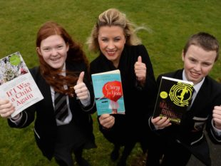 Emma Heatherington hosts a literacy evening for Year 8 pupils at Markethill High School. MGMPR_01