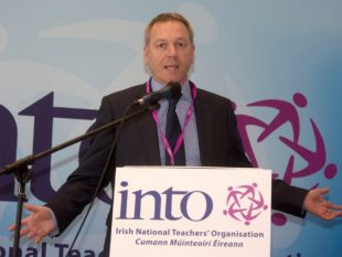 Seamus Hanna, chairman of the INTO Northern Office, says INTO teachers will strike in the New Year. IMG_0454