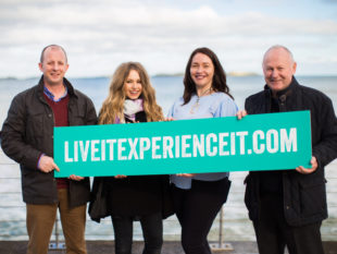 Left to Right: Fergus Mackey of North West 200, Sara O' Neill Éadach, Eleanor McGillie Director Live It Experience It, Mervyn Whyte MBE North West 200 'Live It Experience It' is a cluster of tourism businesses working together to promote Northern Ireland through water, air and land based activities, food and drink and great places to stay.