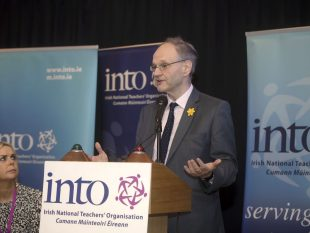 Minister for Education Peter Weir speaking at Northern Conference of the INTO