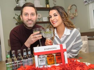 Fashion blogger Denise Curran and her fiance Michael Gallagher will be joining Symphonia's Virtual Valentines Night from the Tyrone gin distillery at Trewmount Road, Moy. . bwDSC_3658